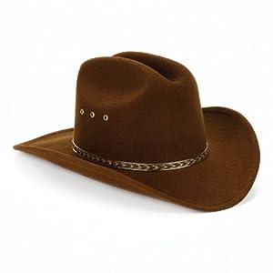 Child Cowboy Hat (Brown) Child (One-Size)