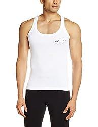Lakomfort Men's Cotton Vest (Max _Small_White)