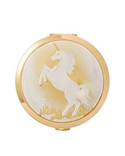 Dynasty Gallery Chokin Art Unicorn Compact with Mirror, Gold