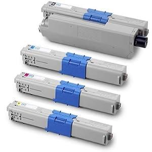 Set of 4 OKI C301 C321 Compatible Laser Toner Cartridges
