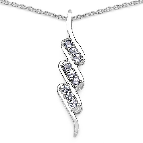 0.45 Carat Genuine Tanzanite 925 Sterling Silver Pendant
