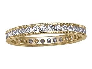 Karina B (tm) Round Diamonds Eternity Band in 18 kt Yellow Gold Size 5