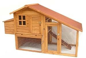 Meadow Lodge Hen Homes Poulailler avec rampe en marronnier
