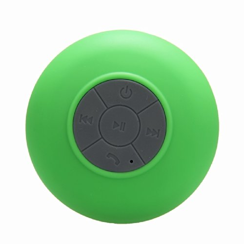 Baudio Waterproof Wireless Bluetooth Shower Speaker With Suction Cup For Showers, Bathroom, Pool, Boat, Car, Beach, Outdoor / With Hands Free Speakerphone Compatible With All Bluetooth Devices Iphone 5S And All Android Devices (Green)