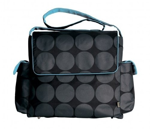 oioi-charcoal-dot-messenger-baby-changing-bag-with-turquoise-lining-and-accessories