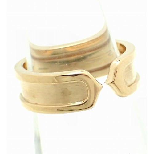 [カルティエ] Cartier C2 リング SM ウエディングリング 指輪 K18YG 750YG イエローゴールド #51 [中古]