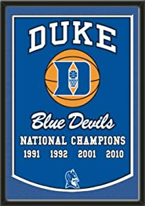 Dynasty Banner Of Duke Blue Devils With Team Color Double Matting-Framed Awesome... by Art and More, Davenport, IA