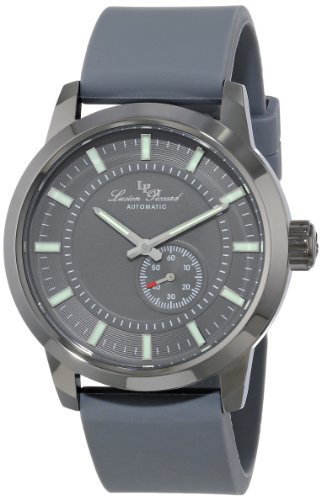 Lucien Piccard Men's 44mm Automatic Rubber Metal Case Watch 12550-GY-014-GY