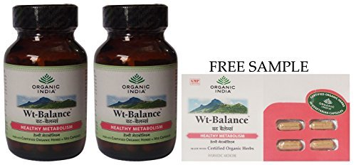 organic-india-weight-balance-formula-60-veg-capsules-free-expedited-shipping-via-dhl-express-deliver