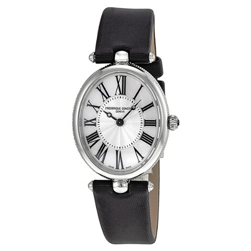 Frederique Constant Art Deco Stainless Steel Black Satin Ladies Watch 200MPW2V6