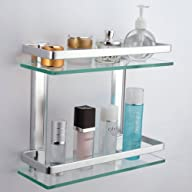 KES Bathroom 2-Tier Glass Shelf with…