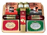 An Executive Treat Gourmet Cheese and Sausage Gift Set   Great Fathers Day Gift Idea (Cheese and Sausage)