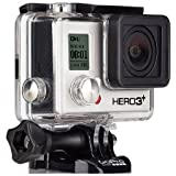 GoPro HERO 3+ Black Edition - Videocámara de 12 Mp (vídeo Full HD, estab. imagen, WiFi), negro (importado)