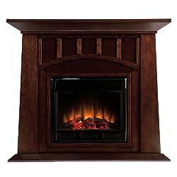 SEI AMZ8669E Lowery Electric Fireplace, Espresso from Southern Enterprises--DROPSHIP