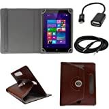 ECellStreet ™ 7 Inch PU Leather Rotating 360° Flip Case Cover With Tablet Stand For Dell Venue 7 3740Tablet -...