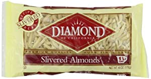 Diamond Almonds, Slivered, 6-Ounce Bags (Pack of 6)