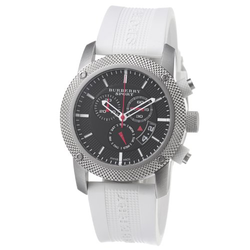 Burberry Men's BU7707 Endurance White Rubber Strap Watch