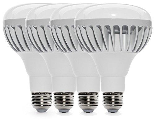 4-Pack Of Great Eagle® Led 15 Watt (85W) 1100 Lumen Br30 Recessed Light Bulb, Dimmable 2700K Warm White Light