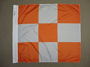 Airfield Vehicle Safety International Danger Indoor Outdoor Dyed Nylon Flag Canvas Pole Sleeve 3' X 3'
