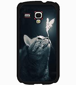 ColourCraft Angel and Cat Design Back Case Cover for SAMSUNG GALAXY S3 MINI I8190