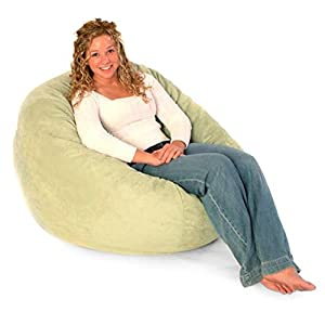 Comfort Research 3 ft. Premier Micro Suede Fuf Foam Lounger Bean Bag Chair, Chocolate, Micro Suede, Medium