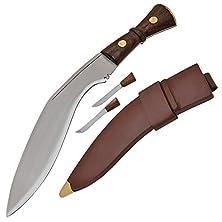 buy Gurkha Kukri Service Machete Brown Wood Handle 13 Inch Blade