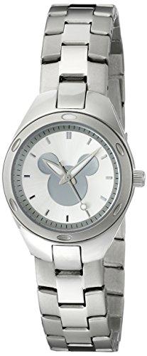 Disney Women'S W001908 Mickey Mouse Analog Display Analog Quartz Silver Watch