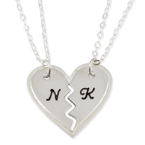 heart necklace for couples - photo #36