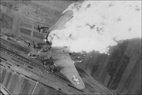 B-17 Flying Fortress Hit By Aaa Fire Over Nis Yards, Serbia 1944 Poster