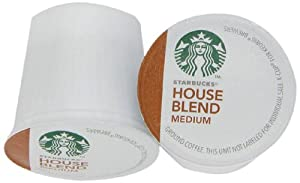 Starbucks House Blend Medium Roast K-Cup Packs for Keurig Brewers, 54-Count