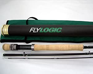Fly Logic Optimum Plus Fly Fishing Rod FLO+ 9012/3 9' #12 Weight 3 Piece Flyrod with Tube and Sock