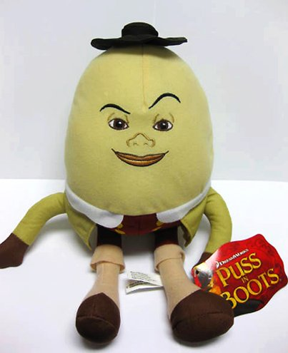 Puss In Boots 3D Official Evil Villian Humpty Dumpty Plush Figure Toy Doll
