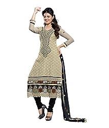 Akantik's Women's Cotton Unstitched Dress Material (AK-MS-AC_Grey_Free Size)