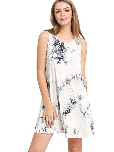 ROMWE-Womens-Tie-Dye-T-Shirt-Sleeveless-Casual-Loose-Swing-Dress-Tunic-Top