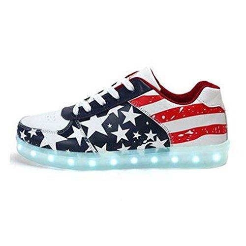 SAGUARO-Unisex-Hombres-Mujeres-de-carga-USB-Zapatos-de-la-bandera-americana-de-deportes-LED-luminoso-que-destellan-las-zapatillas-de-deporte