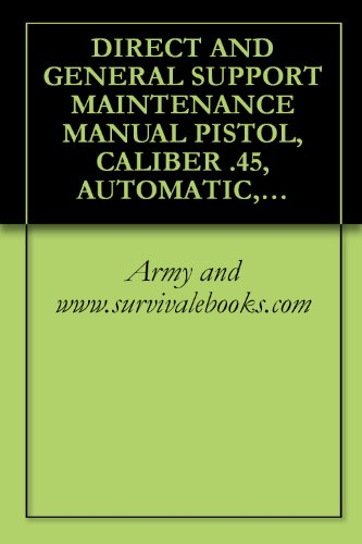 Direct And General Support Maintenance Manual Pistol, Caliber .45, Automatic, M1911A1