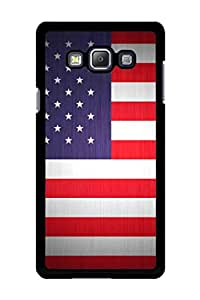 Caseque US Flag Back Shell Case Cover for Samsung Galaxy A7