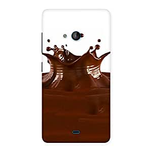 Delighted Chocolate Splash Brown Back Case Cover for Lumia 540