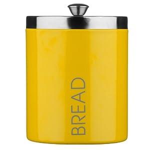 citron bread bin yellow enamel kitchen home