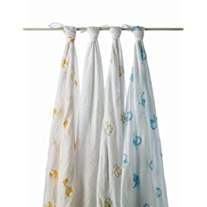 aden + anais Cotton 4 Pack Muslin Swaddle Blanket