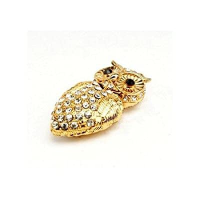 8GB Fashion Crystals Jewelry USB 2.0 Flash Memory Pen Drive Owl Gold by pengyuan