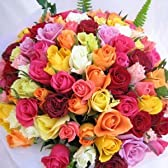 100本のバラの花束PARISテイスト 生花 【お祝い・記念日・誕生日・フラワーギフト・バラ】