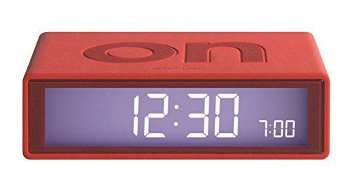 lexon-lr130r5-flip-reveil-on-off-abs-gomme-rouge-105-x-65-x-29-cm