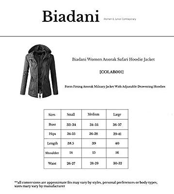 BIADANI Women Anorak Safari Hoodie Jacket