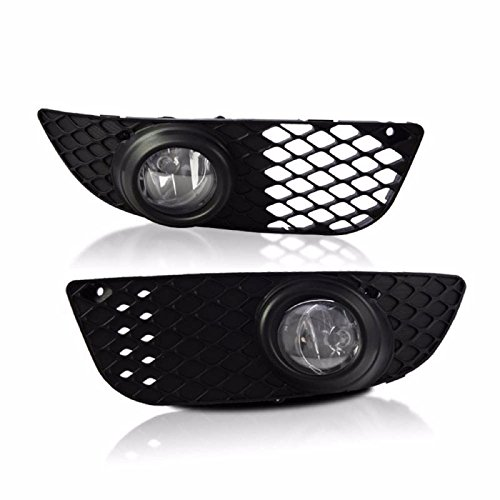 Clear Lens Fog Light Bumper Lamps W/ Wiring Kit For 2007-2010 Mitsubishi Lancer (Mitsubishi Fog Lamp compare prices)