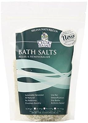 Celtic Sea Salt®, Whole Crystal Bath Salt, 1 Pound Resealable Bag, PACK OF 6 from Celtic Sea Salt