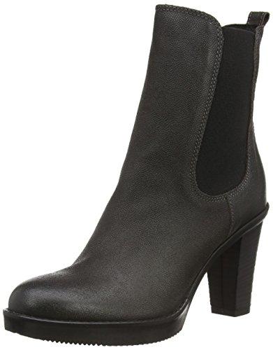 Fred de la Bretoniere Fred chelsea 13cm booty on 8cm heel rubber sole, Stivaletti Chelsea con imbottitura leggera, a mezza gamba donna, Grigio (Grau (Antracite 115)), 39