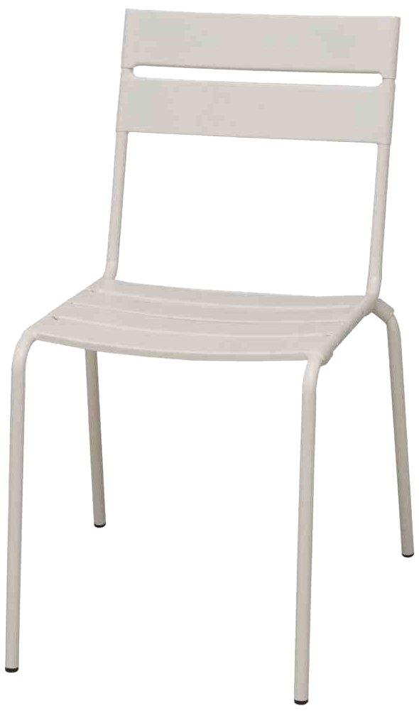 Siena Mybalconia 255039 Maui Stapel-Sessel, matt weiß Stahlgestell matt weiß