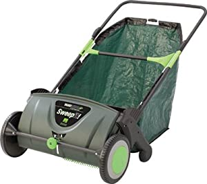 Great States 23630YW Push Lawn Leaf Sweeper, 21-In., 26 Gallon Capacity from Great States