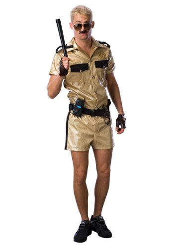 Rubies Mens Deluxe Funny Police Cop Reno 911 Lt. Dangle Comical Fancy Costume